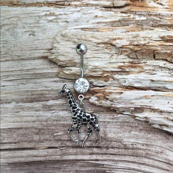 Giraffe Belly Button Navel Ring Nwt